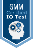 Badge of the GMM certified online IQ test